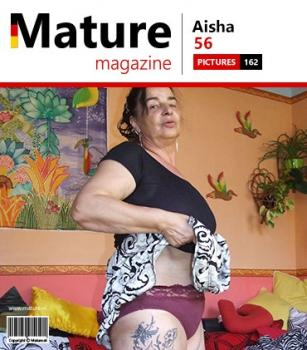 Mature.nl- Aisha (MM) (56) - Horny tattooed mature slut getting naked