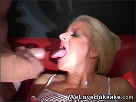 Realsexpass.com- Mature Blonde Sucks Cum Out of Cocks