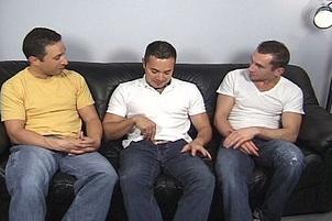 Awesomeinterracial.com- Three Cute Brunette Boys Get It On