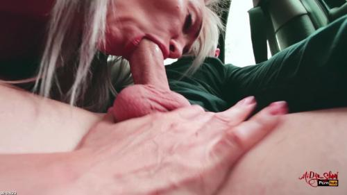 Blowjob in the car while waiting for my friends   MiDju Show