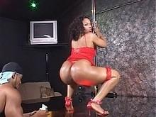 Blackicepass.com- Flame Turns On Lover With Some Pole Dancing Then Rides Cock