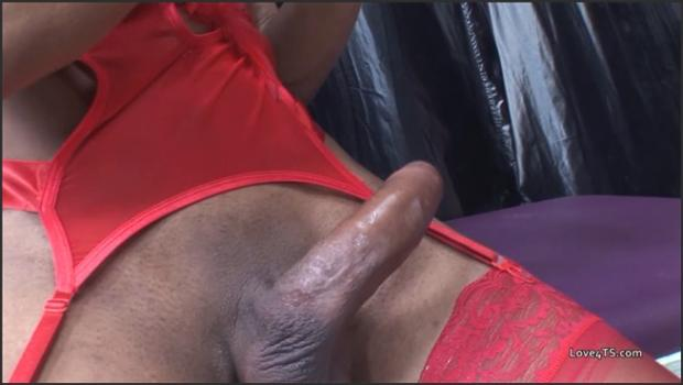 Realsexpass.com- Fucked by black shemale with big boobs and big dick